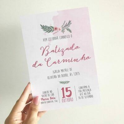 Convite Aniversário e Batizado